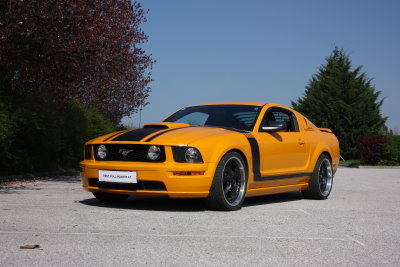 Ford Mustang GT BOSS orange schwarz