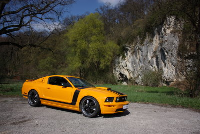 Ford Mustang GT BOSS grabber orange