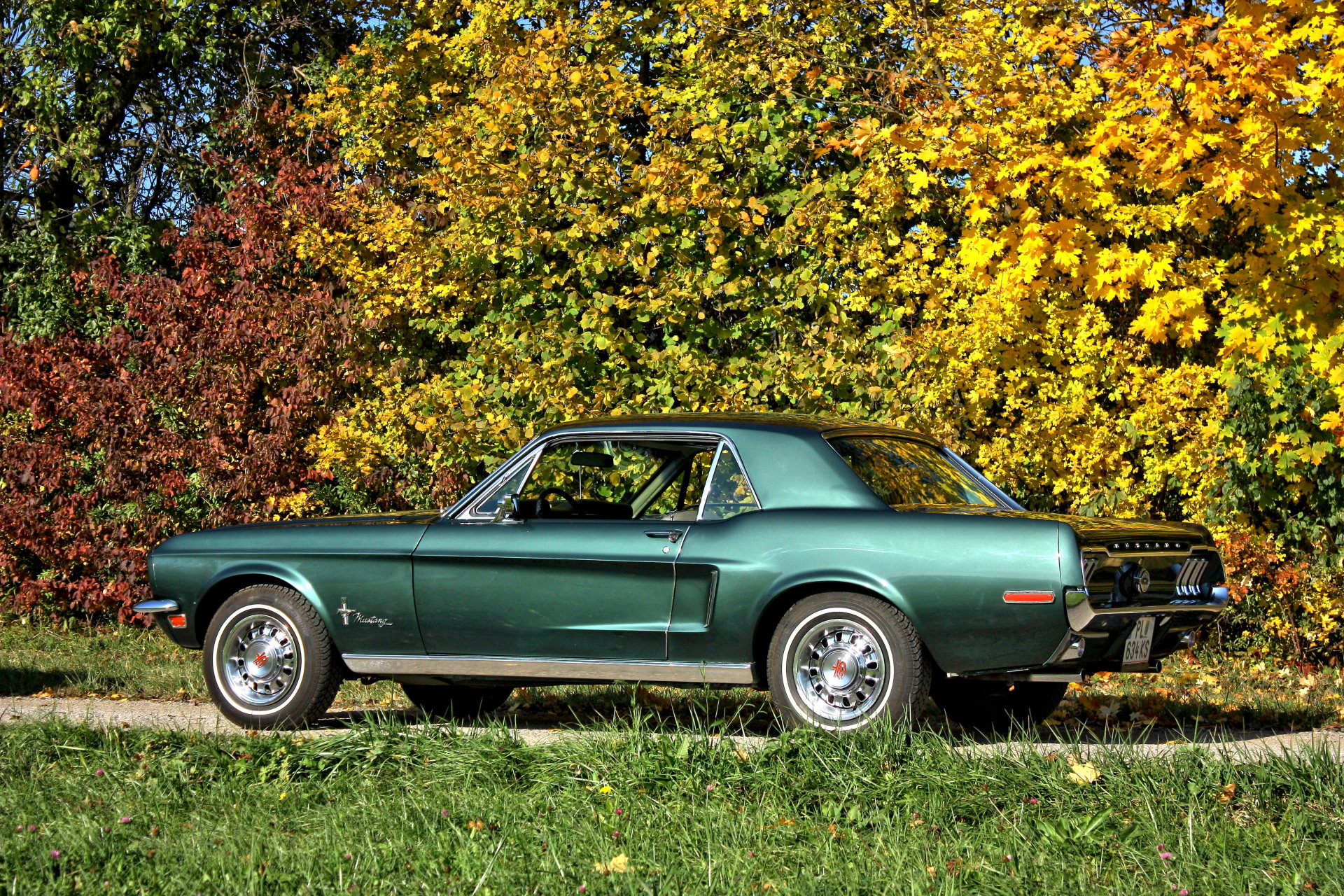 ford mustang bj.68 oldtimer als brautauto